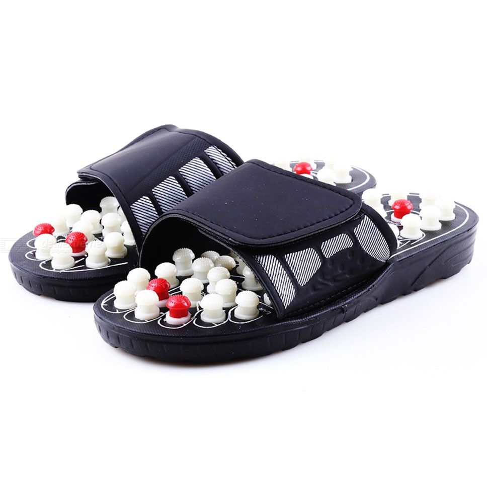 For Men And Women Chinese Acupoint Massage Therapy Rotary Foot Massager Shoes Slippers