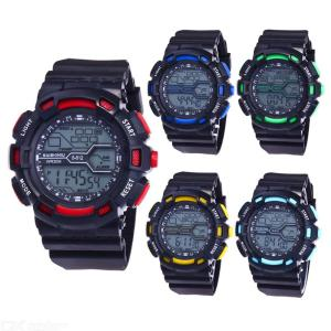 Childrens Digital Sports Watch Fashion Multifunctional Watch With Backlit