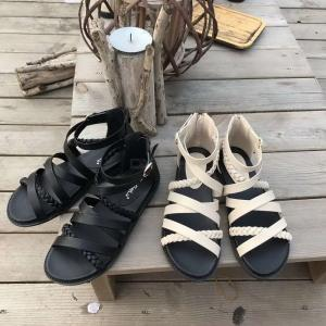 New Style Classical Roman Style Twisted Strap Sandals For Young Girl