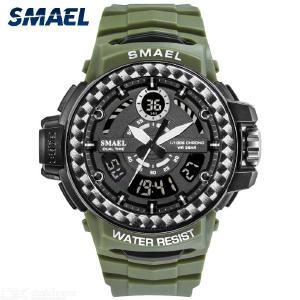 SMAEL 8014 Multifunctional Sport Wristwatches Waterproof Digital Military Watch Male Analog Clock For Outdoor
