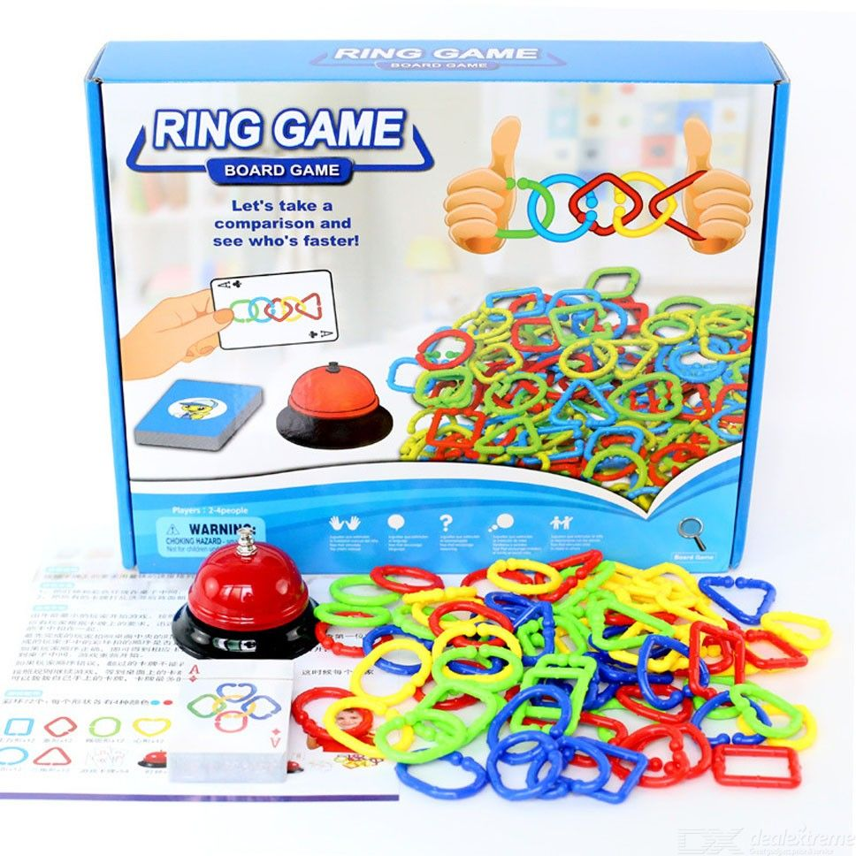 Desktop Geometric Chain Buckle Ring Game DIY Assembly Fun Toys Parent-child Interactive Board Game For Children