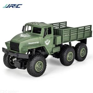 JJRC Remote Control Six-Wheel Military Truck Anti-Skid Wear-Resistant Loadable Truck Toy For Kids Over 8 Years Old