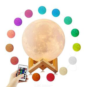 3D Printing Moon Light Creative Luna Lamp For Home Office Decoration W 1 X Stand And 1 X Remote