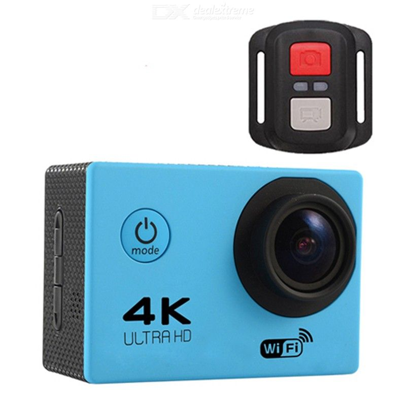 30m Waterproof Durable Color : Black 170 Degrees Wide Angle Lens H9 4K Ultra HD1080P 12MP 2 inch LCD Screen WiFi Sports Camera