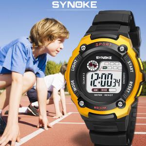 SYNOKE Digital Watch LED Waterproof Student Wristwatch Fashion Boys Sport  Watch
