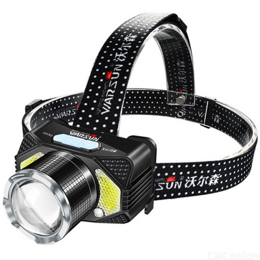 Super Bright Rechargeable USB LED Headlamp, CE-listed T6 Waterproof Induction Headlight Built-in 3000mAh Battery
