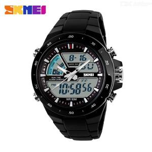 SKMEI 1016 Dual Movement Sports Digital Wristwatch, Mens Watch