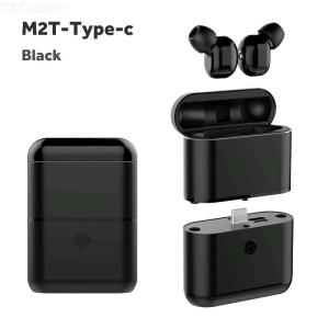 M2T-Type-C Bluetooth 5.0 Wireless Earphones Noise Canceling Earbuds With Mic Charging Case (Emergency Power Bank)
