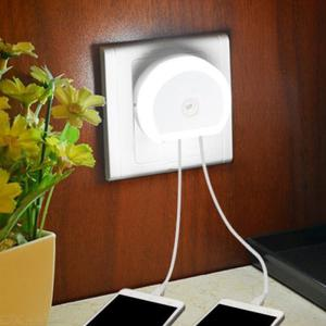 Creative 2-in-1 Charger Night Light Dual USB Charger And Dusk-to-dawn Nightlight