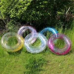 Inflatable Clear Swim Ring Shinning Pool Float For Adult 90cm