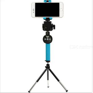 360 Degree Electric Rotating Handheld Bluetooth Selfie Stick With Rearview Mirror For Mobile Phone