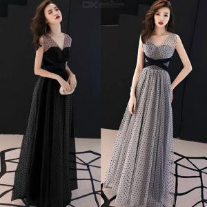 Women's Evening Gowns V-neck Empire Waist A-Line Maxi Dresses For Wedding Cocktail Party Prom Banquet