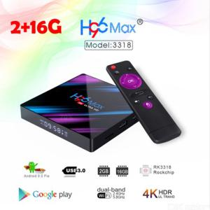 H96 Max 3318 Android 9.0 TV-box USB 3.0 Quad-core 2 GB RAM 16 GB ROM-stöd 2.4G + 5G Wifi 4K HDR