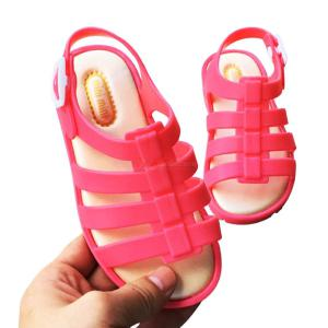 Unisex Children Flats Breathable Adjustable Beach Sandals For Boys And Girls