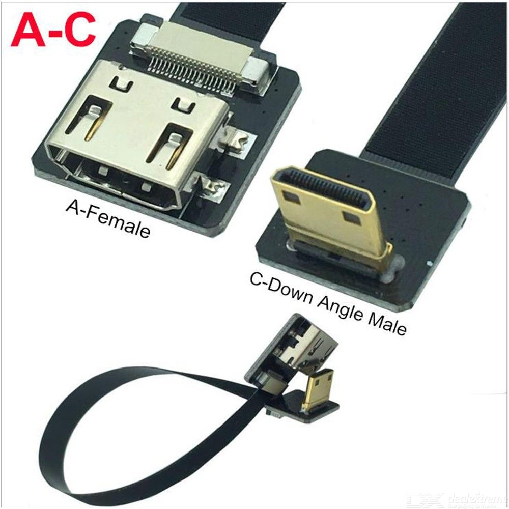 Component Amp Composite Fpv Hdmi Type A Female To 90