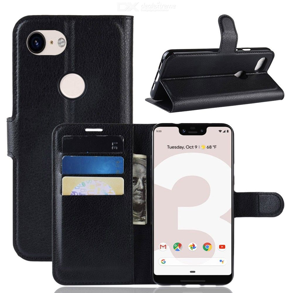 CHUMDIY Dustproof Protective PU Leather Full Body Phone Case for Google Pixel 3A XL