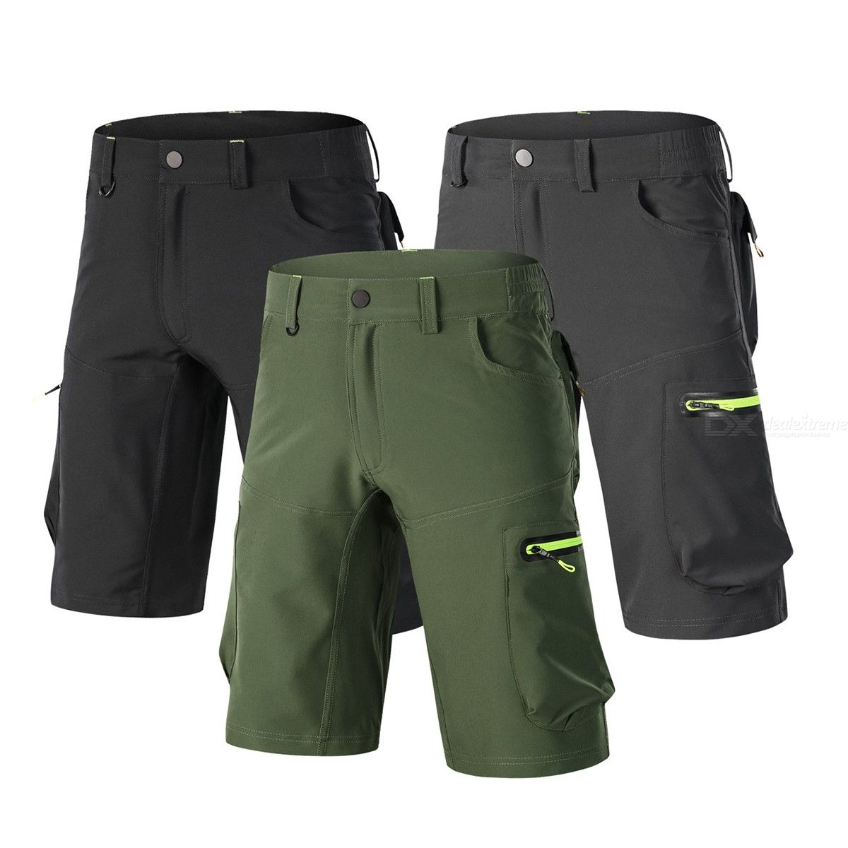 Men Quick Multi Pockets Drying Breathable Outdoor Sports Zipper Fly Cycling Shorts