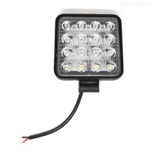 1Pc 48W Square 25mm Thickness 12V LED Light Bar  Work Light For Offroad Car Truck Tractor Boat Trailer