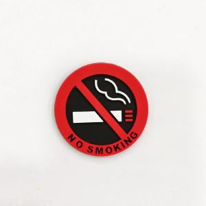 4PCS No Smoking Car Stickers Styling Allowed Round Red Logo Sign Vinyl Sticker Use For Car Glass Business Door