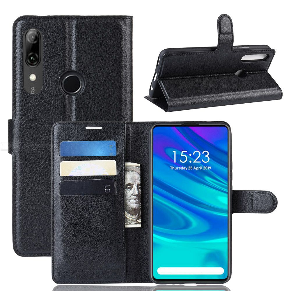 Naxtop Leather Phone Wallet Case for Huawei Y9 Prime 2019  Huawei P Smart Z TPU + PU Card Slot Phone Stand