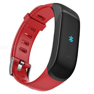 TB01 Bluetooth Wireless Earphone + Fitness Tracker 2-in-1 Smart Bracelet Activity Tracker With Color Touch Screen
