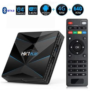 HK1 PLAY Smart Tv-box Android 9.0 Amlogic S905 X2 4GB 64GB 2.4G5G Dubbel Wifi USB 3.0 BT4.2 4K H.265 Mediaspelare