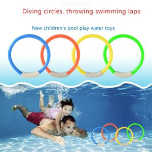 4PCS Childrens Diving Ring Underwater Swimming Pool Throwing Toy