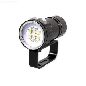 ZHISHUNJIA Diver Diving Flashlight 500M 18000LM IPX8 Waterproof LED Underwater Lamp for Video Photography