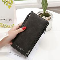 Womens-Frosted-PU-Leather-Long-Wallet-With-Zipper-2b-Snap-Button-Closure-Phone-Card-Photo-Holder-Note-Coin-Compartment