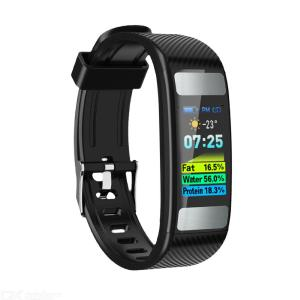 C33 Body Fat Smart Bracelet 0.96 inch HD Color Screen Smartwatch Heart Rate Monitor Bluetooth Sport Watch for Adults