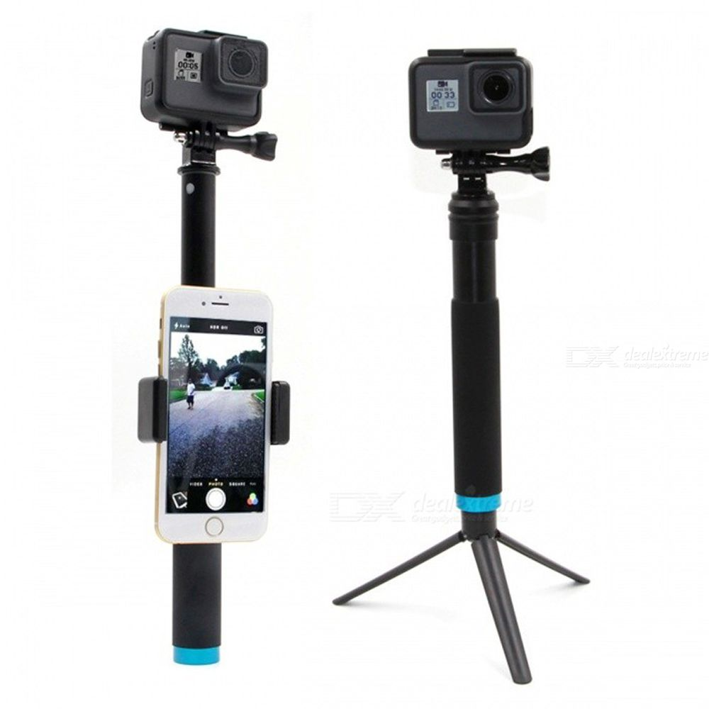 Dx coupon: TELESIN Extendable Selfie Stick with Phone Clip for GoPro