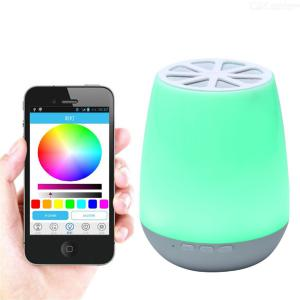YWXLight Portable Bluetooth Speaker Multi-Color USB LED Light Night Atmosphere RGB Light APP Control