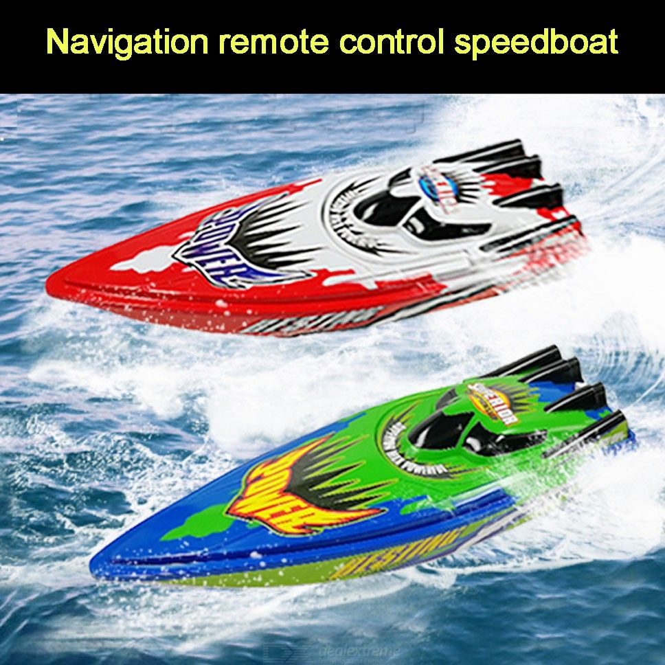 Portable High Speed Remote Control RC Boat Waterproof Electric Speedboat Toy For Kids Children