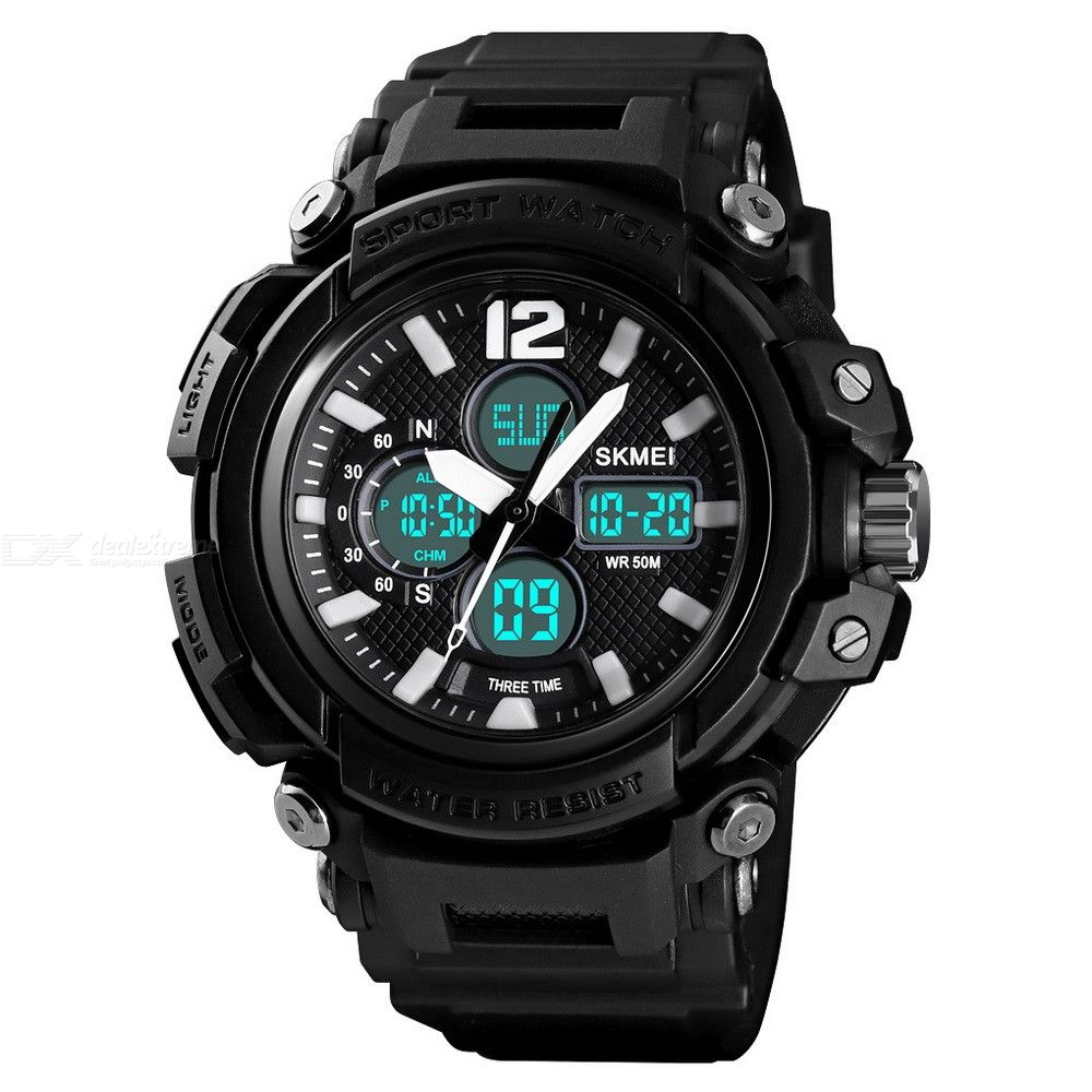 Dx coupon: SKMEI 1498 Dual Display Digital Watch Multi-Function Waterproof  Male Wristwatch For Outdoor Sports