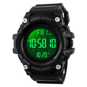 SKMEI 1384 Military Mens Digital Waterproof Watches LED Back Light Shock Sports Wristwatches
