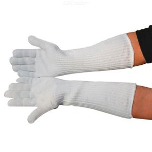 1 Pair Long Cut Resistant Working Gloves With Stainless Steel Wire Protective Safety Gloves
