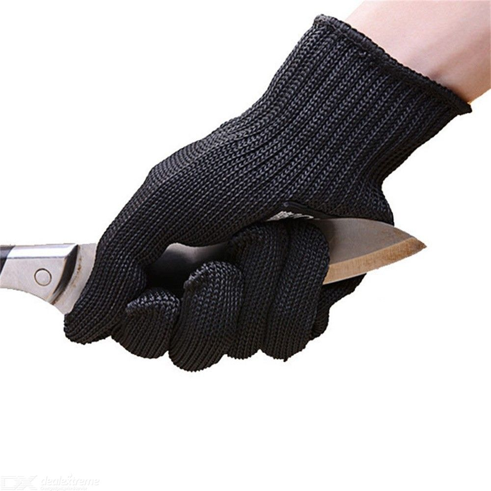 1 Pair Professional Cut-proof Gloves Safety Protective Metal Mesh Gloves For Industrial Work