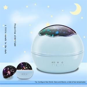 Romantic LED Projector Lamp Colorful Rotating Bedside Starlight USB Charging Ambient Light  For Home