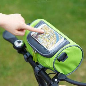 Multifunctional Bicycle Front Tube Pouch Waterproof Bike Phone Bag Touch Screen Pack For Outdoor