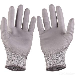 1 Pair Cut Resistant Gloves High Performance Level 5 Protection Food Grade For Kitchen Woodworking And More-  Gray