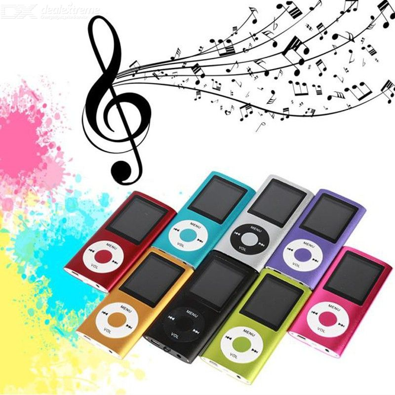 MP4 Player 4th 1.8 Inch Screen MP4 Video Radio Music Film Players Support SD TF Card Dab Radio