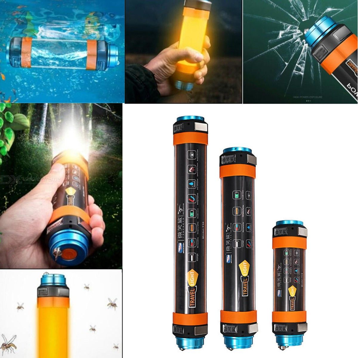 Rechargeable | Mountaineer | Waterproof | Adventure | Military | Outdoor | Rescue | Light | Camp | Dive | USB | LED