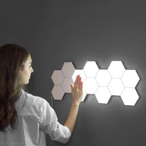Quantum Wall Lamp Touch Sensitive Lighting Hexagonal LED Night Light Creative Assembly Honeycomb Lights (EU Plug)