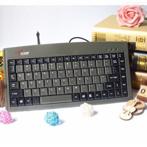 DS-3000 Portable Mini Silent PS2 88-Key USB Wired Keyboard For Industrial CNC Or Home Use - Black