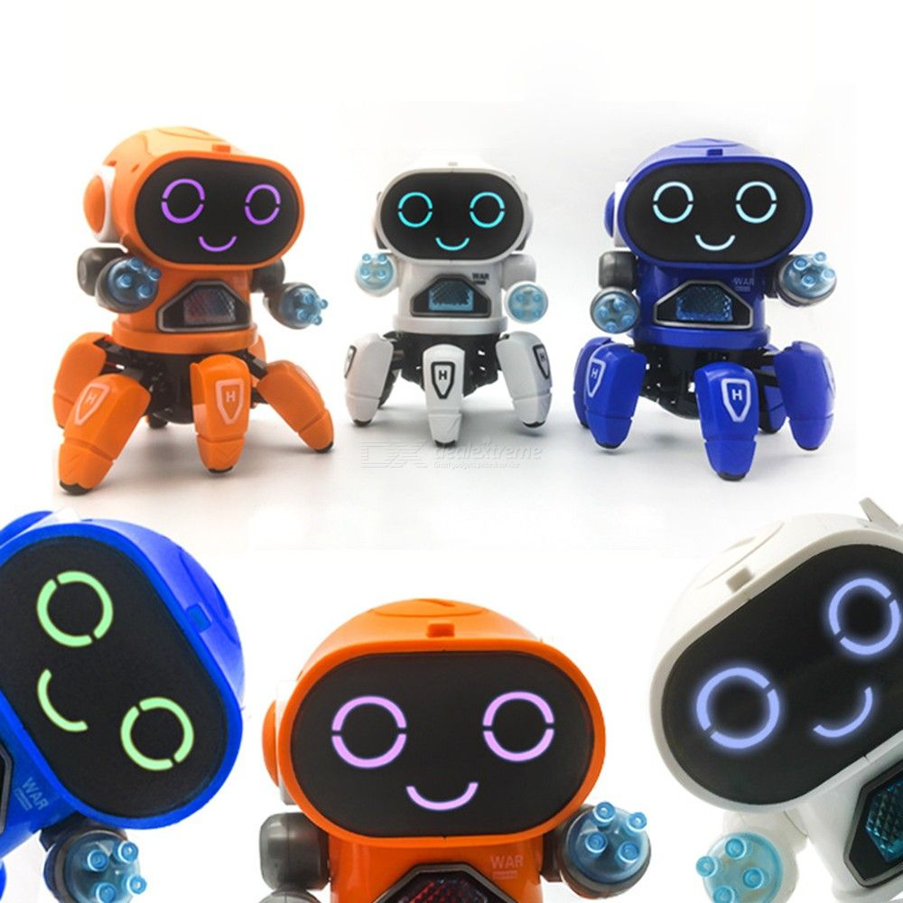 Electric Smart Six-Claw Dancing Robot Toy With Lights Music For Kids Boys Girls
