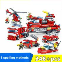 Building-Blocks-City-Fire-Brigade-4-in-1-Educational-Toys-With-384-Blocks-For-Children-6-Years-And-Over