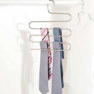 Stainless Steel S-Shaped Hanger, Magic Pants Clothes Closet Belt Holder Drying Rack
