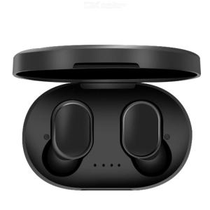 A6S Wireless Earbuds For Xiaomi Redmi Airdots Bluetooth 5.0 Headphone TWS Earphone Noise Reduction Mic With Charging Box - Black