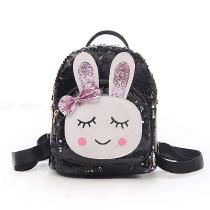 Children-Backpack-Fashionable-Cute-3D-Cartoon-School-Bag-Decorated-With-Sequins-Bunny-Wearing-Barrette-Clip-For-Girls