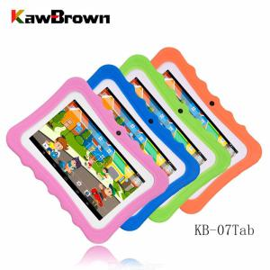 KB-07Tab Portable Cute 512MB RAM 4GB ROM Childrens 7 Inch Tablet With Non-Slip Protective Case For Kids